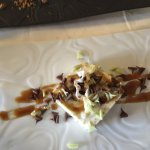 Mousse de chocolate blanco y semillas