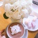 Горячий шоколад с медвежонком