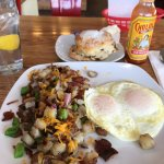 Cowboy Hash and Cinnamon Raisin bread