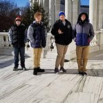 The boys at Arlington Cemetery