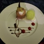 Delicious and beautiful dessert from Costa Azul Restaurant