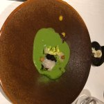 lettuce soup with scalops and caviar