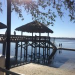 The new docks and pier--bring your boat right up!