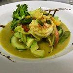 Camarão Thai ( Camarões VM , Curry Verde e Abacaxi )