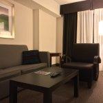 Living room in a 1BR suite. © David-Kevin Bryant, via StruckByWanderlustBlog