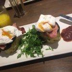 Eggs, bacon, black pudding and potato cake breakfast - delicious! 👍👍