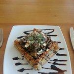 mushroom and marrow custard tart