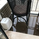 Balcony, full of water, you can not step there.