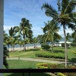 View from prestige room, beach and waitui beach club