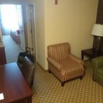 Upgraded Suite, living room area.