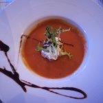 Entrée : soupe de potimarron