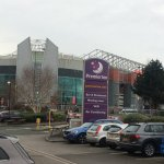 Old Trafford Stadium from the car park
