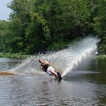 You can even water ski at Painted Rocks State Park