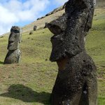 The famous Moai profile