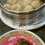 Soup dumplings - not soupy content at all. And they stick together.
