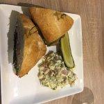 RB sandiwch with potato salad