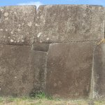 This ahu was built in a style similar to the Inca