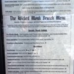 The Wicked Monk Menu