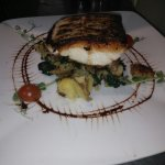 Pan fried hake.