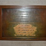 Helen Keller, Anne Sullivan plaque. Braille section worn by everyone rubbing fingers across it.