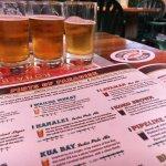 Great selection of beers for beer flights