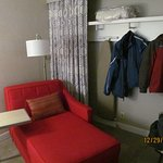 The closet in Room 307 (a slightly odd setup).