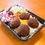 Half size Falafel Platter 50/50 (Rice/ Salad)