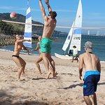 Kayak, snorkel and beach volleyball at Deer Island. Beware of jelly fish!