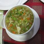 Mixed veg soup for Junior
