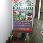 The outside entrance to the restaurant, located in the basement