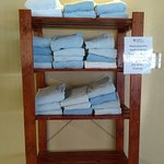 Guest towels available for spa/pool