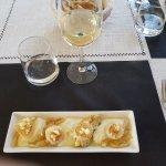 """Une entrée """"noix de St Jacques et crème de panais"""" succulente"""