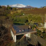 Drone shot with Etna in the background
