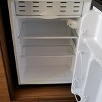 The in-room mini-fridge with a freezer section!