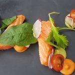 entree confit salmon