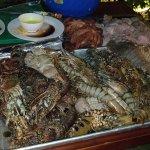 Amazing fresh seafood BBQ - Lobster, Prawns, Calamari, Fish, Squid and Octopus