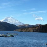 Across Lake Ashi to Fuji, from the village