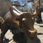 courageous girl statue - The Bull