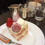Delicious coffee/cakes in hotel foyer bar