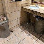 Average night, but a trashed bathroom.