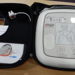 Remember we have a defibrillator for emergency use.