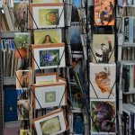 We sell quite a range of items - to help support the Library.  Here is one of our card stands.