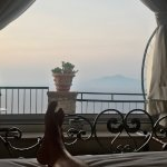 Vesuvius through the suite window