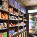 Wide assortment of refreshments and more available at in-house market for your convenience.