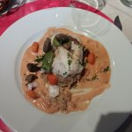 Filet de sandre et son risotto crémeux au champignon
