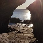 looking into the sun from a cave.. Hopewell Rocks NB