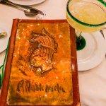The menu and a Margarita