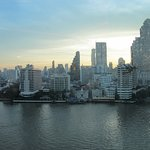Chao Phraya River at sunrise from the Peninsula Hotel