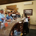 Caitlyn serving all of the customers at Korbel Champagne Cellars in Guerneville.