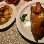 1/2 Hähnchen mit Bratkartoffel